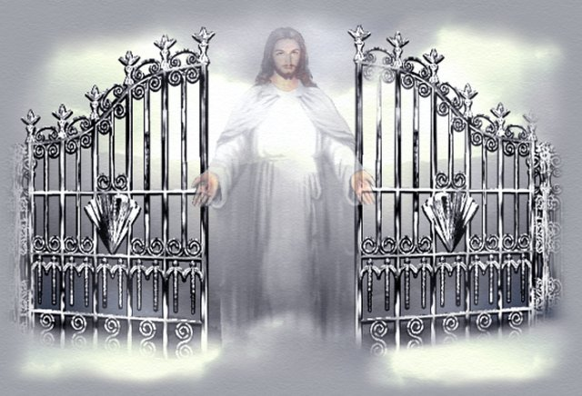 Jesus will open the gate to heaven one day