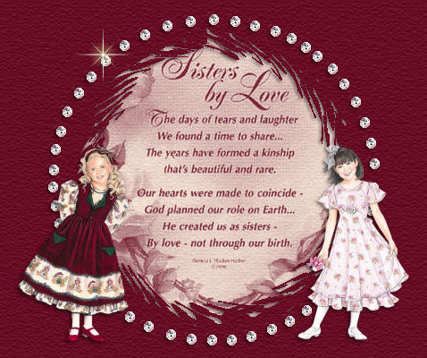 Sisters By Love written by Ginny Bryant with love.....................