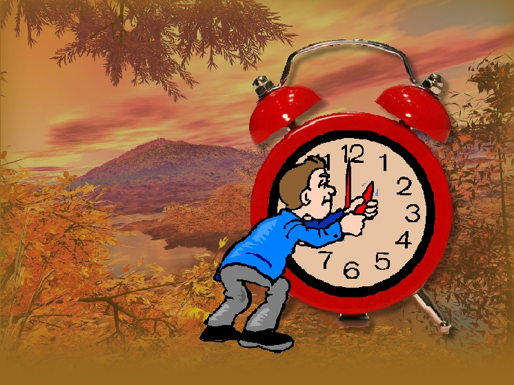 Turn your clocks back one hour......