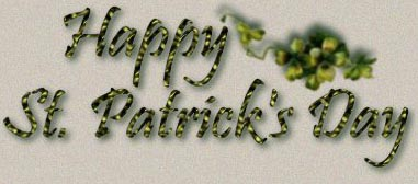 Happy Saint Patrick's Day...