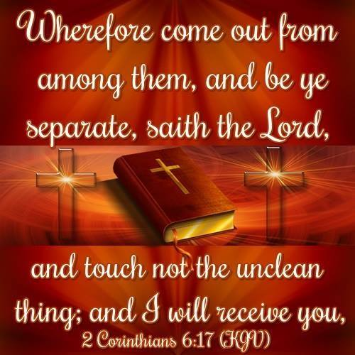 Corinthians 6:17 (KJV) Wherefore come out from among them, ecard