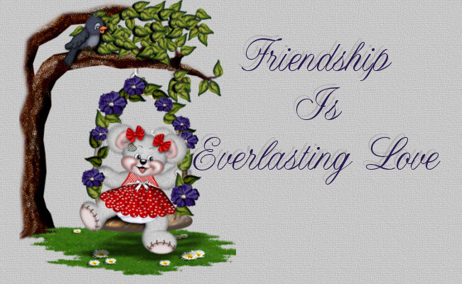 Friendship is everlasting love.........