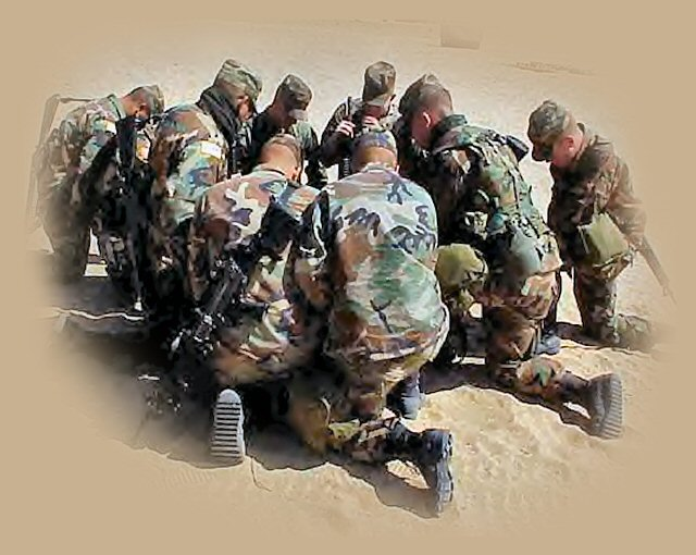 Military soldiers praying.....